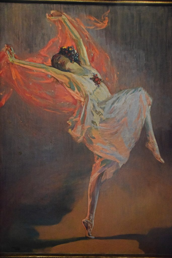 Anna Pavlova, 1910, John Lavery, Kelvingrove Museum, Glasgow, Scotland. After moving to London in 1896, Lavery concentrated on portraits, and became much sought-after.