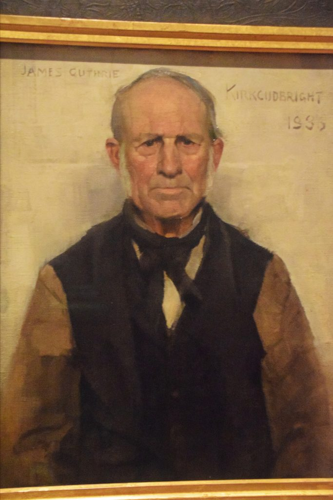 Old Willie, the Village Worthy, 1886, James Guthrie, Kelvingrove Museum, Glasgow, Scotland. Old Willie was local Kirkcudbright character.