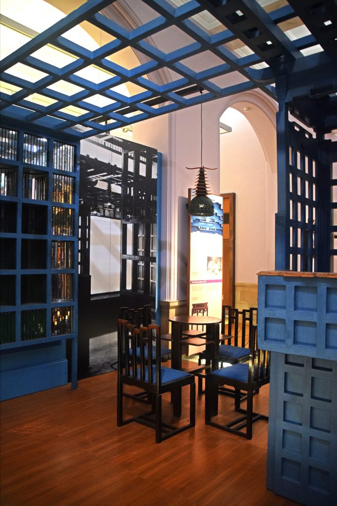 The Chinese Room, 1911, designed by Charles Rennie Mackintosh, Kelvingrove Museum, Glasgow, Scotland.  For the gentlemen's tearoom in Ingram Street.