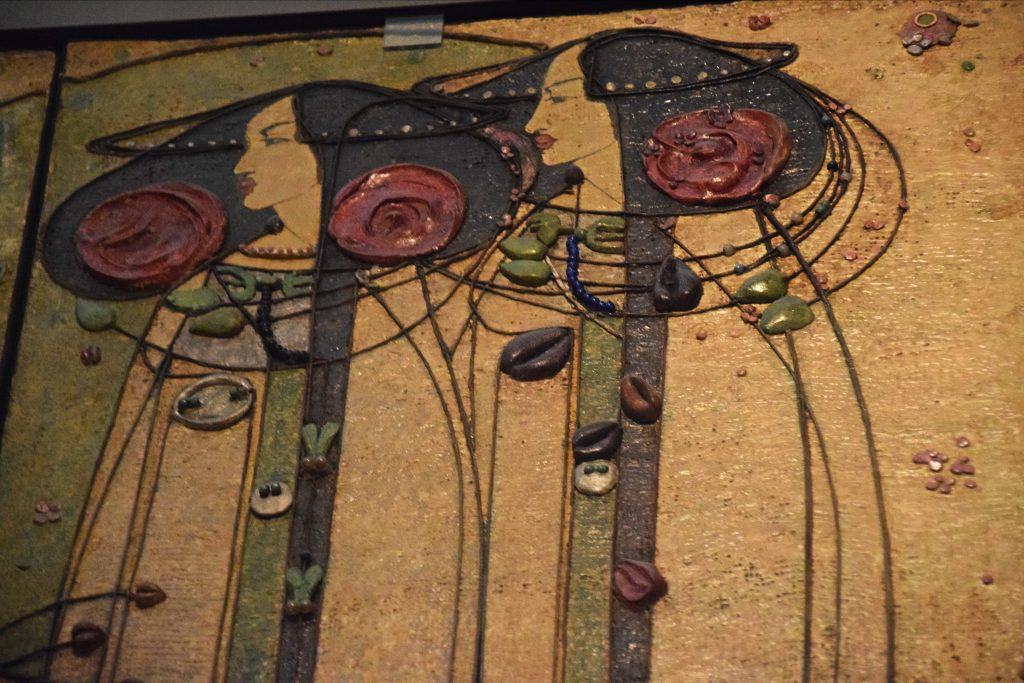 Detail of The Wassail, from the Ladies' Luncheon Room, Ingram Street Tea Rooms, 1900, Charles Rennie Mackintosh, Kelvingrove Museum, Glasgow, Scotland