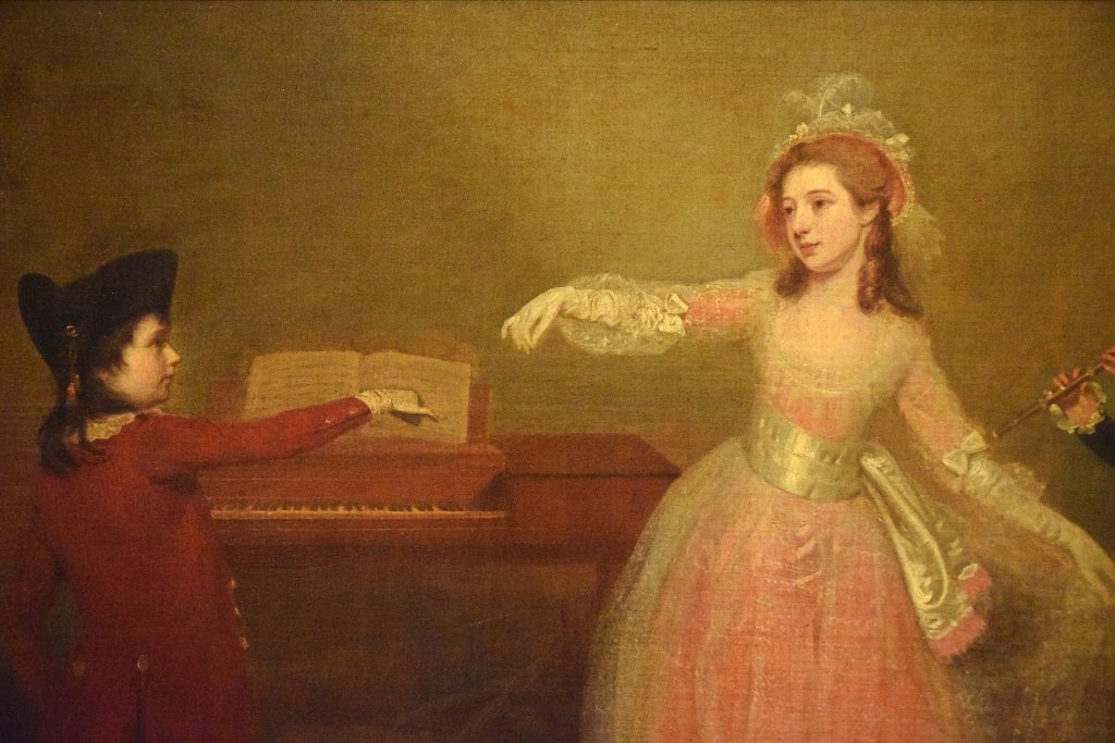 Detail from A family Party - the Minuet, Johann Zoffany, c1780, Kelvingrove Museum, Glasgow, Scotland