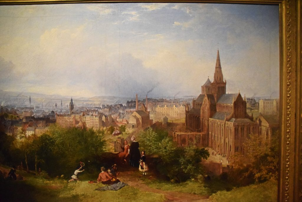 View of Glasgow and the Cathedral, c1840, John Adam Plimmer Houston, Kelvingrove Museum, Glasgow, Scotland