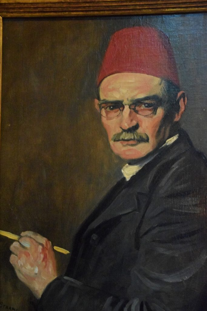 The Red Fez, self portrait, William Strang, 1910, Kelvingrove Museum, Glasgow, Scotland