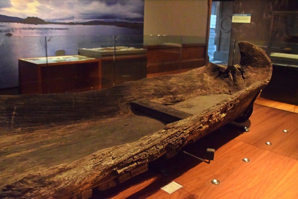 The Loch Glashan oak logboat, 1st-10th centuries, Loc Glashan, Argyll, Kelvingrove Museum, Glasgow, Scotland