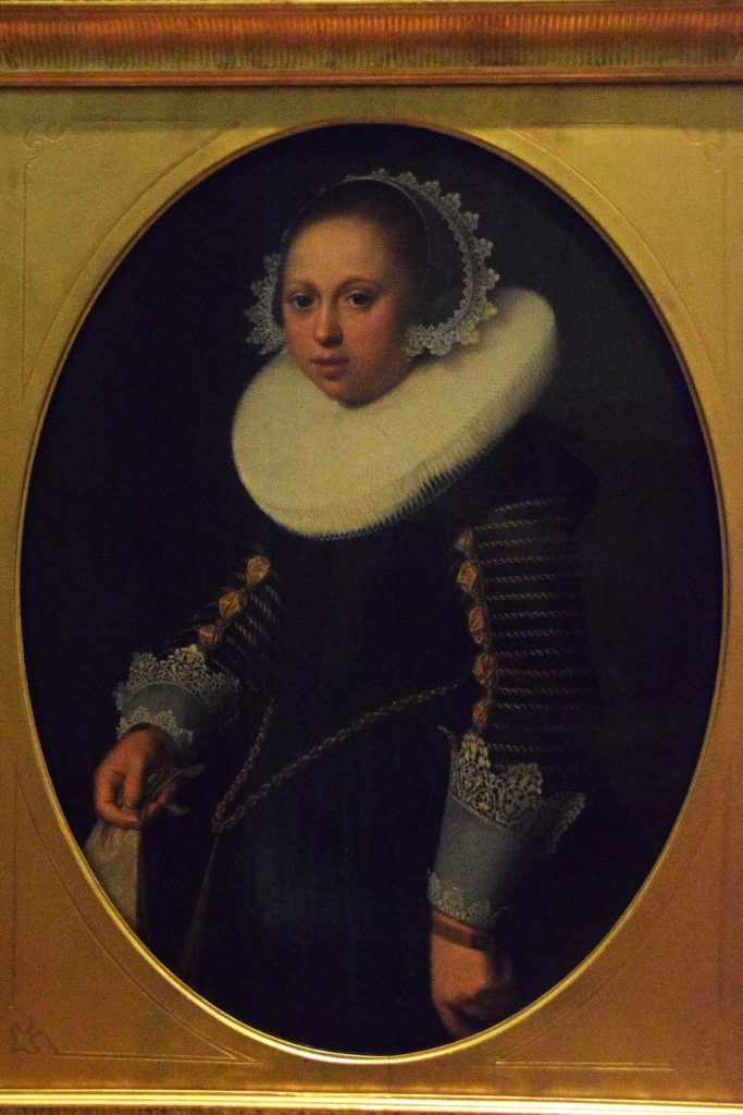 Portrait of girl aged 15, 1633, follower of Nicolaes Pickenoy,Kelvingrove Museum, Glasgow, Scotland