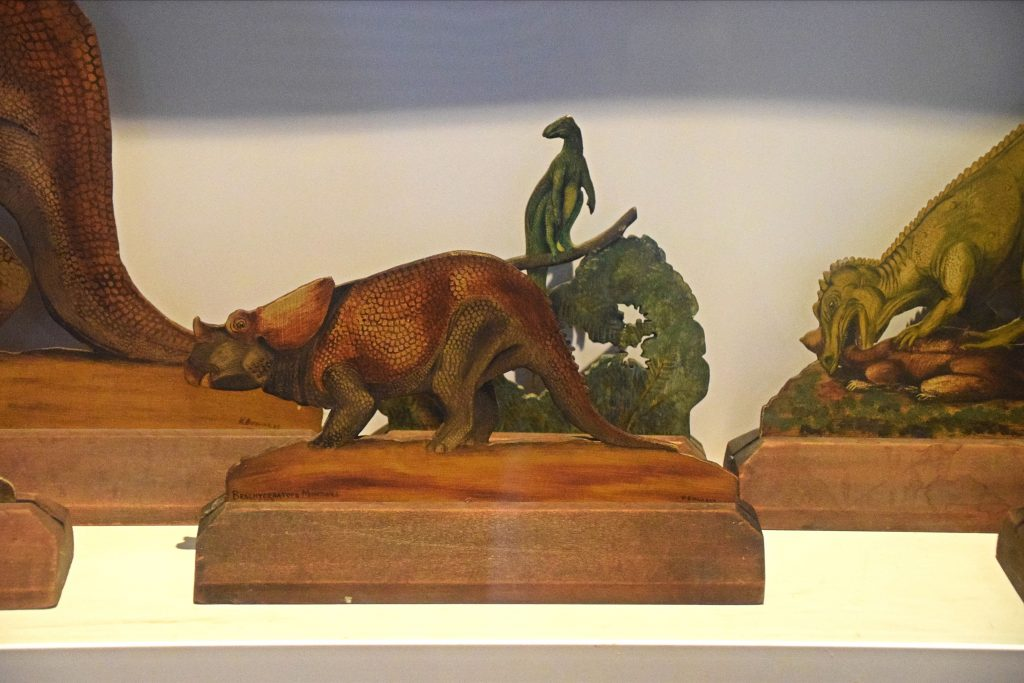 Little dinosaur models, Vernon Edwards, 1920s, Hunterian Museum, Glasgow, Scotland.