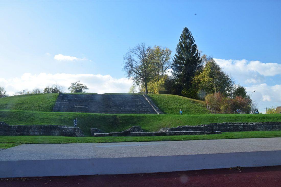 View of the Schönbühl Hill Temple,Augusta Raurica, Switzerland