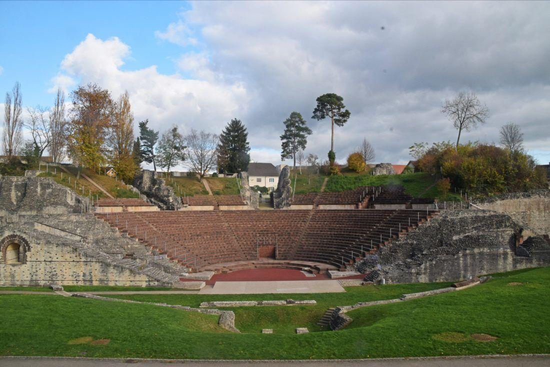 View of the theatre from the Schönbühl Hill, Augusta Raurica, Switzerland